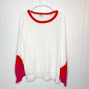 Andree by Unit Colorblock Balloon Sleeve Sweater